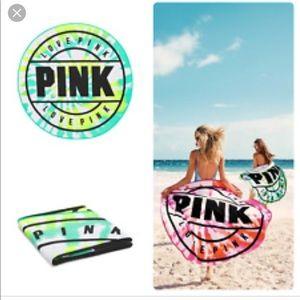 VS PINK round beach blanket towel